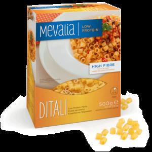 Низькобілкові макарони Мевалія Діталі (Mevalia Ditali)