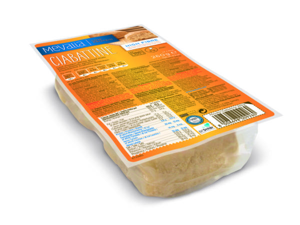 Харчовий продукт для спеціальних медичних цілей низькопротеїнові білі хлібні рулети Мевалія Чіабатіне