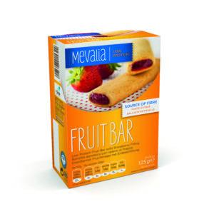 Харчовий продукт для спеціальних медичних цілей низькопротеїновий фруктовий батончик з полуничною начинкою Мевалія Фрут Бар