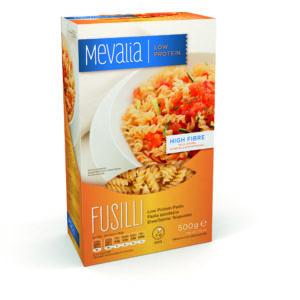 Харчовий продукт для спеціальних медичних цілей низькопротеїнові макарони Мевалія Фузілі