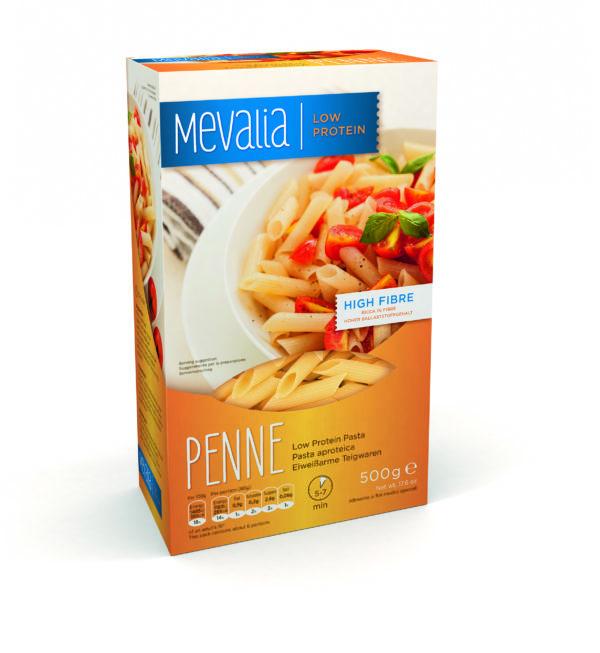 Харчовий продукт для спеціальних медичних цілей низькопротеїнові макарони Мевалія Пенне